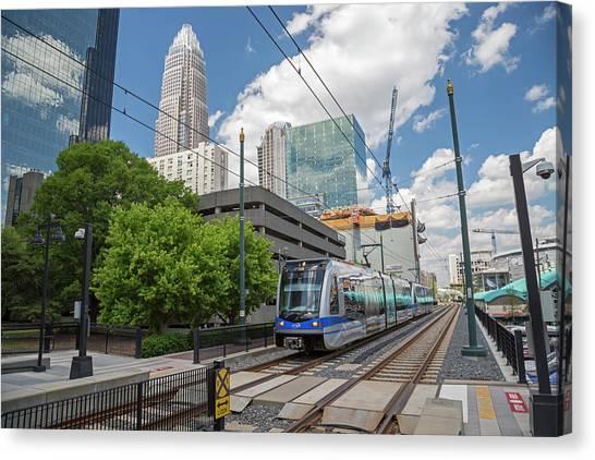 Light Rail Canvas Print - Light Rail Transit System by Jim West/science Photo Library