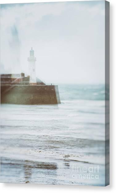 Dog Walking Canvas Print - Lighthouse by Amanda Elwell
