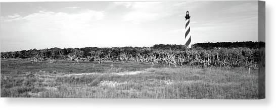 Cape Hatteras Lighthouse Canvas Print - Lighthouse On The Coast, Cape Hatteras by Panoramic Images