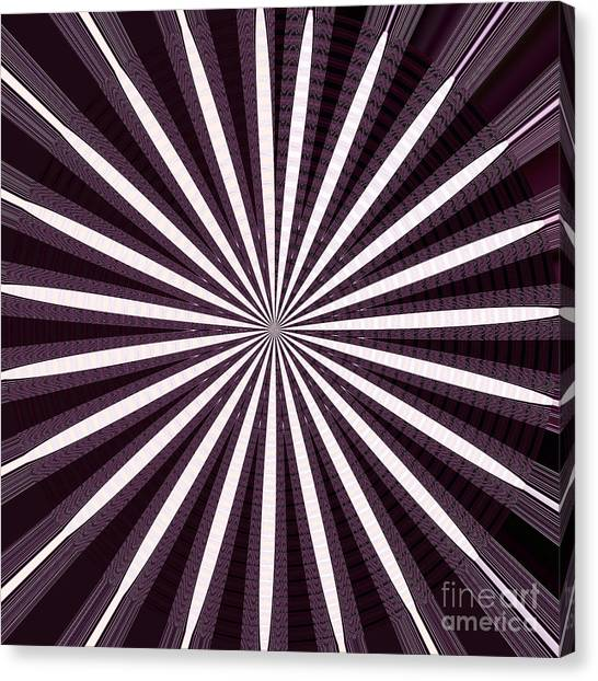 Stockart Canvas Print - Lights N Shades Purple N White Stripe Abstract Art For Dark Rooms And Corridors Also See Throw Pillo by Navin Joshi
