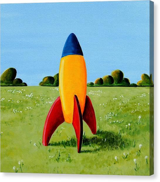 Rocket Canvas Print - Lil Rocket by Cindy Thornton
