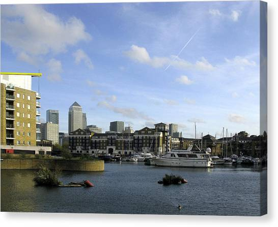 Canvas Print featuring the photograph Limehouse Basin by Helene U Taylor