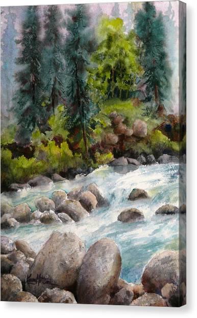 Little Susitna River Rocks Canvas Print