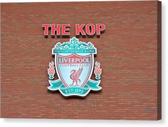 British Premier League Canvas Print - Liverpool Football Club Crest  by Ken Biggs