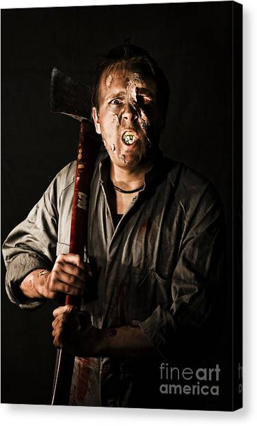 Axes Canvas Print - Living Dead Killer Zombie by Jorgo Photography - Wall Art Gallery
