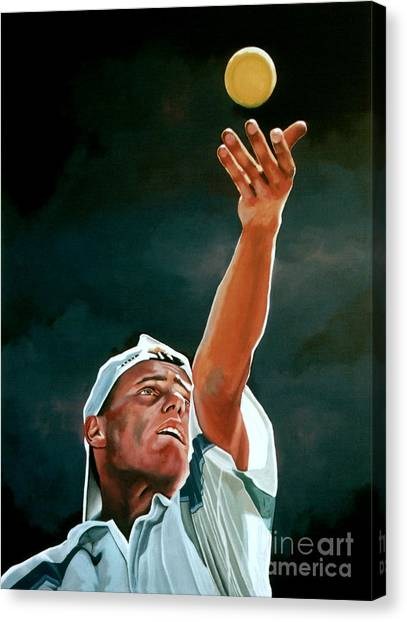 Tennis Players Canvas Print - Lleyton Hewitt by Paul Meijering