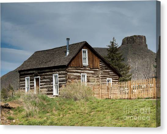 Table Mountain Canvas Print - Log Cabin by Juli Scalzi