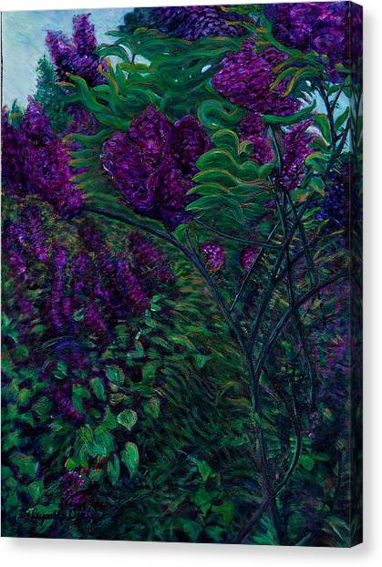 Lois Loves Lilacs Canvas Print