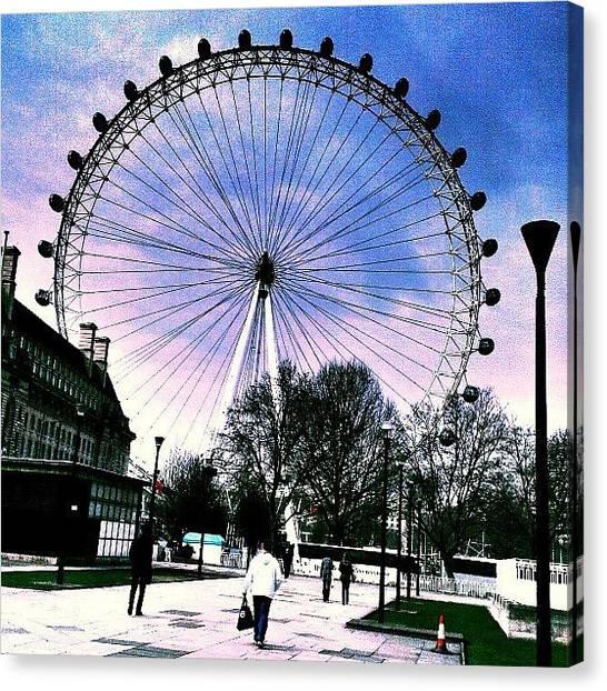 Drake Canvas Print - London Eye by Chris Drake