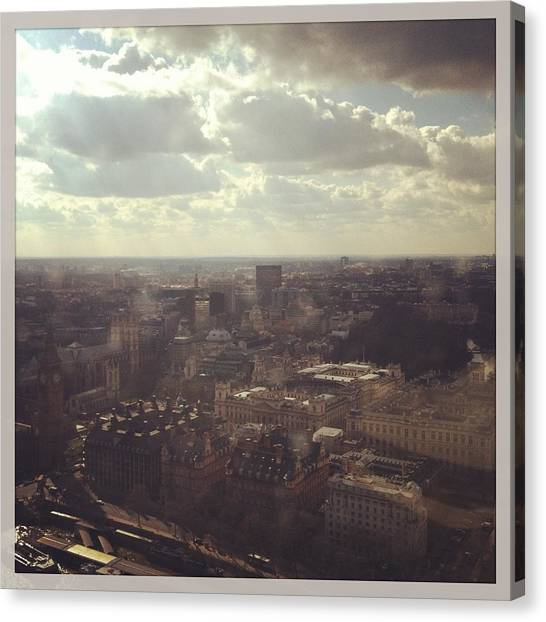 Parliament Canvas Print - London Skyline  by David  Simmons