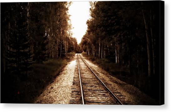 Lonely Railway Canvas Print