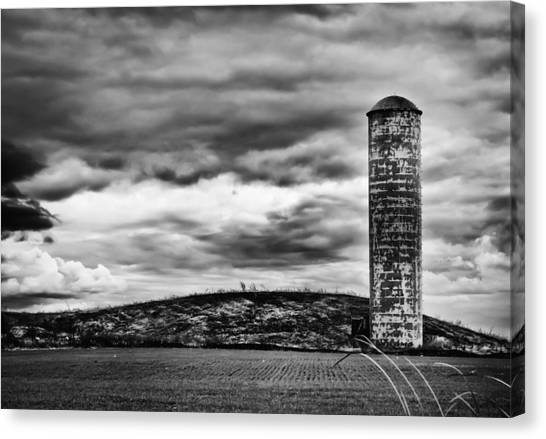 Lonely Silo Canvas Print by Ricky L Jones