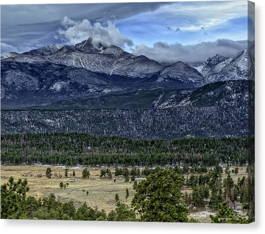Long's Peak Canvas Print by Tom Wilbert