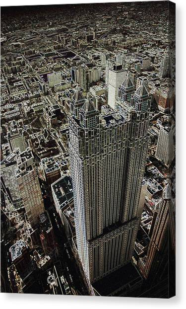 Looking Down On A Skyscraper Canvas Print