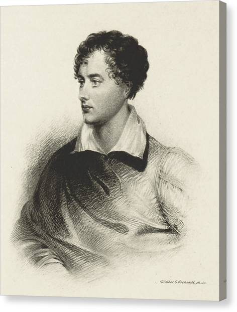 Notable Canvas Print - Lord Byron, English Romantic Poet by British Library