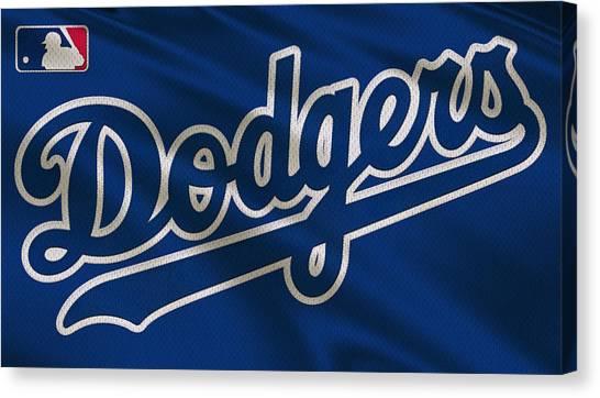 Los Angeles Dodgers Canvas Print - Los Angeles Dodgers Uniform by Joe Hamilton