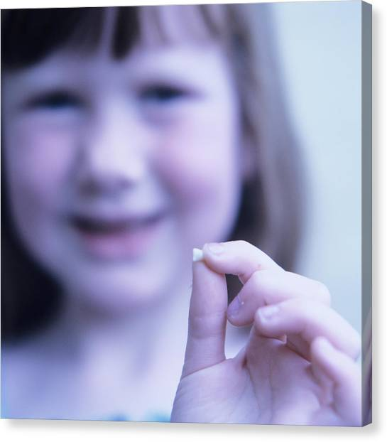 Loss Of Milk Teeth Canvas Print by Mark Thomas/science Photo Library