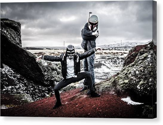 Boba Fett Canvas Print - Lost In Space by Marino Flovent