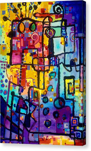 Lost Papers And Urban Plans Canvas Print
