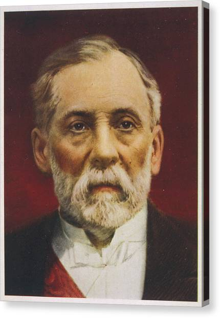 Louis Pasteur (1822 - 1895) French Canvas Print by Mary Evans Picture Library
