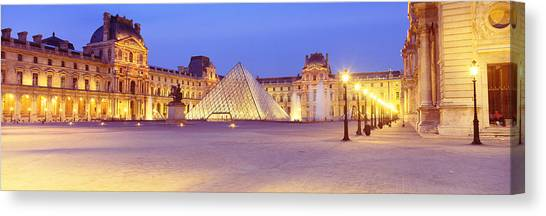 The Louvre Canvas Print - Louvre Museum, Paris, France by Panoramic Images