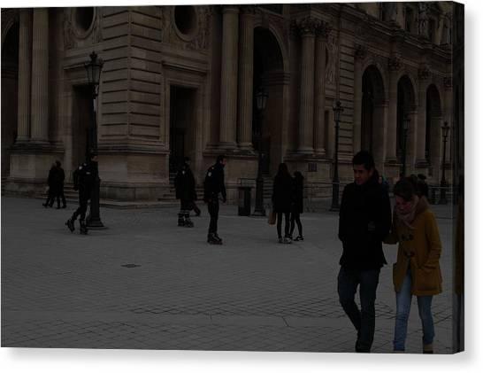 Le Louvre Canvas Print - Louvre - Paris France - 01136 by DC Photographer