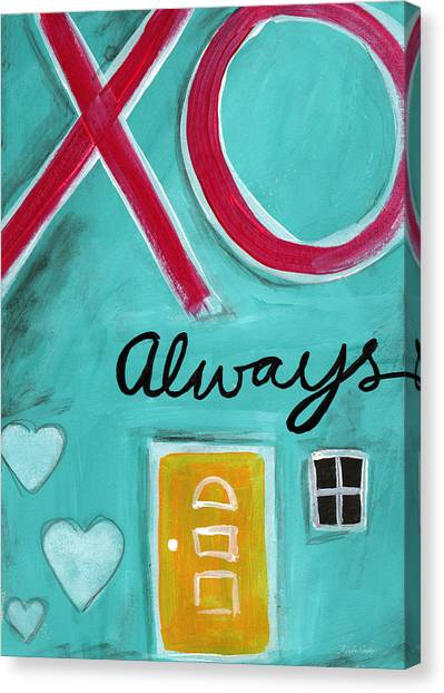 Kiss Canvas Print - Love Always by Linda Woods