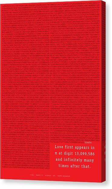 Love In Pi Canvas Print by Martin Krzywinski