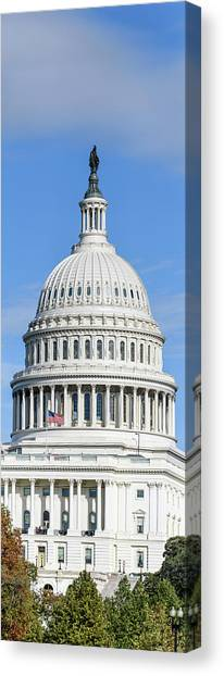 Parliament Hill Canvas Print - Low Angle View Of Capitol Building by Panoramic Images