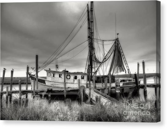 Shrimping Canvas Print - Lowcountry Shrimp Boat by Scott Hansen