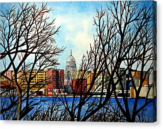 Madison Treed Canvas Print