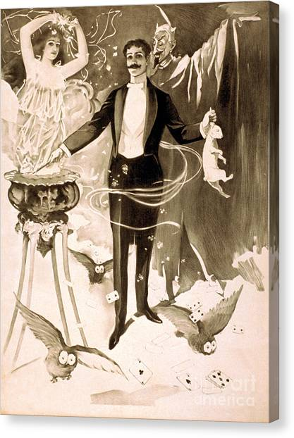 Hat Trick Canvas Print - Magician, 1899 by Photo Researchers