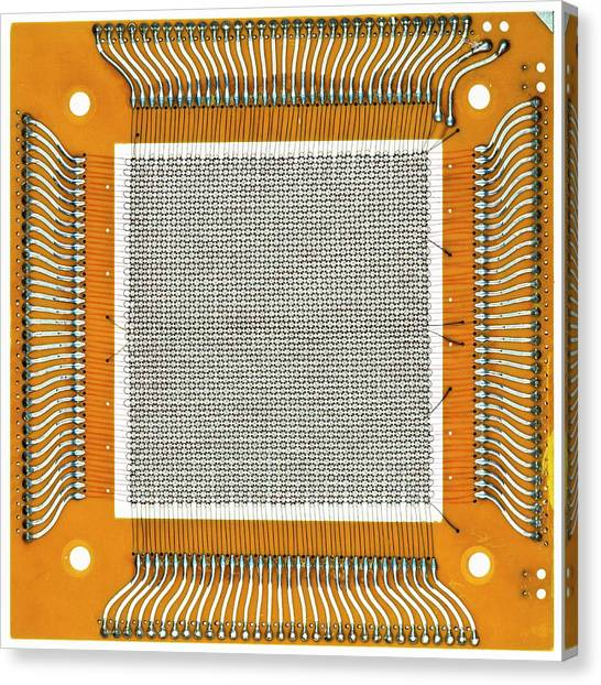 Computer Science Canvas Print - Magnetic-core Memory by Pasieka