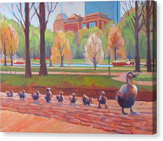 Boston Canvas Print - Make Way For Ducklings by Dianne Panarelli Miller