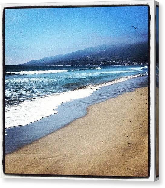 Oceans Canvas Print - Malibu Beach by Aaron Kremer