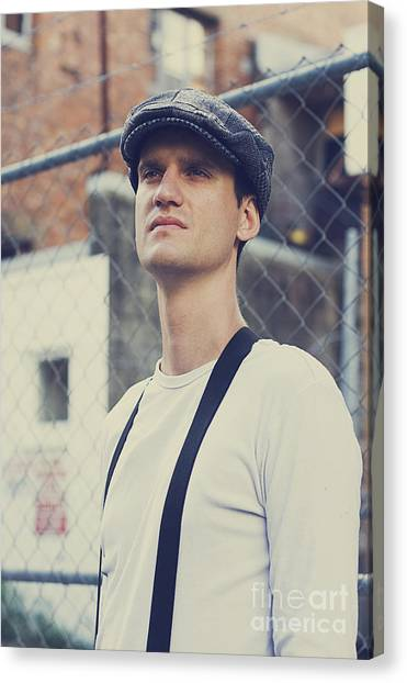 Braces Canvas Print - Man Of The Great Depression by Jorgo Photography - Wall Art Gallery