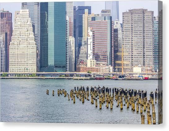 Manhattan On The East River Canvas Print