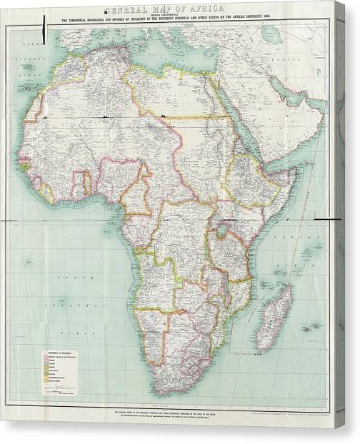 Western Conference Canvas Print - Map Of Africa by Library Of Congress, Geography And Map Division
