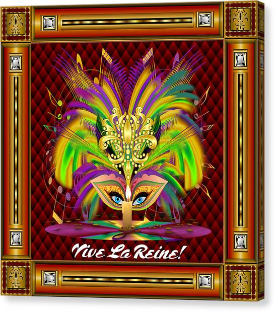 Jambalaya Canvas Print - Mardi Gras Queen Style 2 Vector Sample by Bill Campitelle