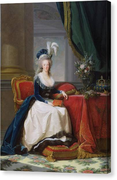 Ostriches Canvas Print - Marie Antoinette by Elisabeth Louise Vigee-Lebrun
