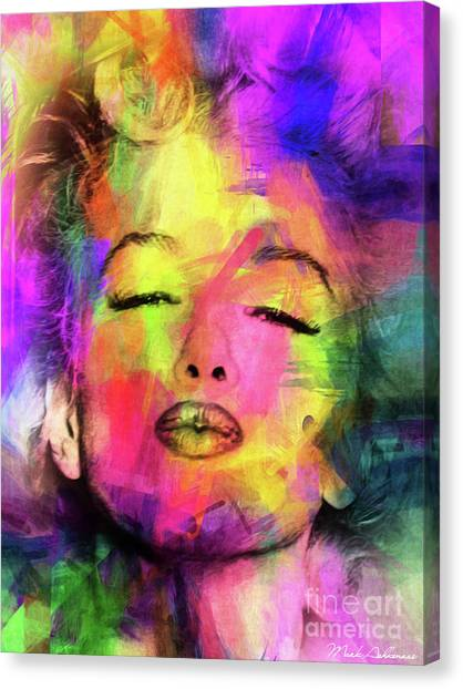 Monroe Canvas Print - Marilyn Monroe by Mark Ashkenazi