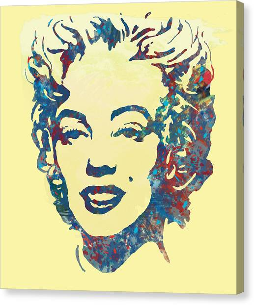 Marilyn Monroe Canvas Print - Marilyn Monroe Stylised Pop Art Drawing Sketch Poster by Kim Wang