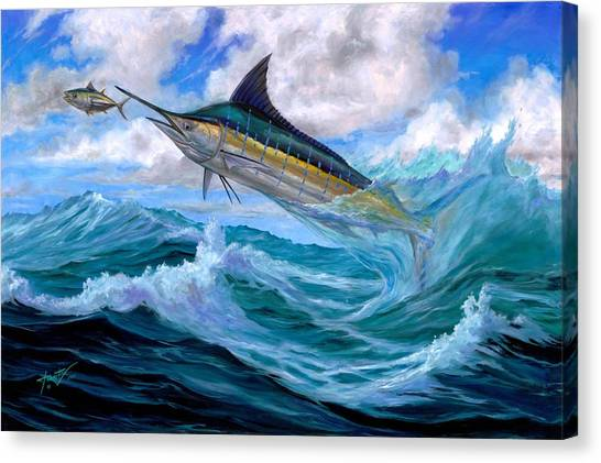 Marlin Low-flying Canvas Print