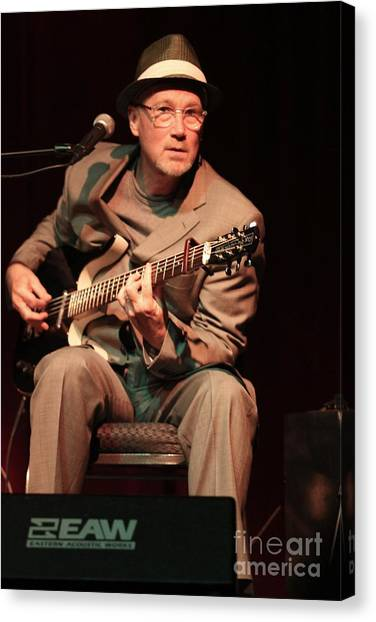 Folk Singer Canvas Print - Marshall Crenshaw by Concert Photos