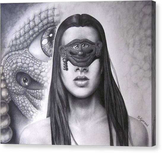 Masked Beauty Canvas Print
