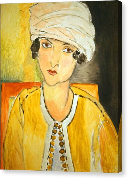Matisse's Lorette With Turban And Yellow Jacket Canvas Print