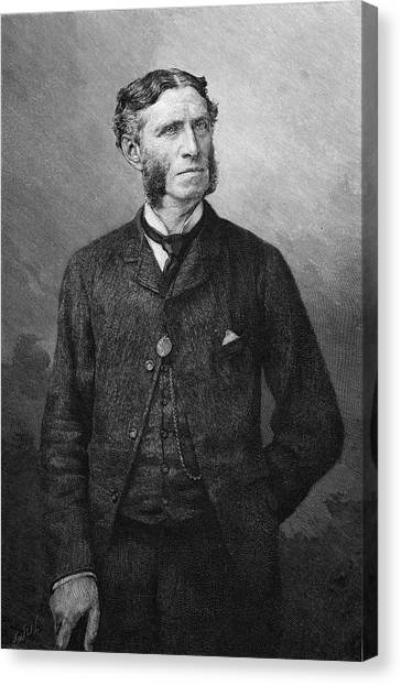 Matthew Arnold  Writer And Critic Canvas Print by Mary Evans Picture Library