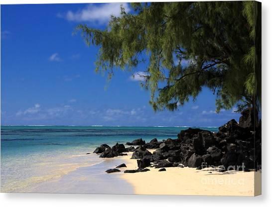 Mauritius Blue Sea Canvas Print by IB Photography