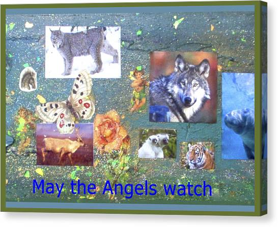 May The Angels Watch Canvas Print