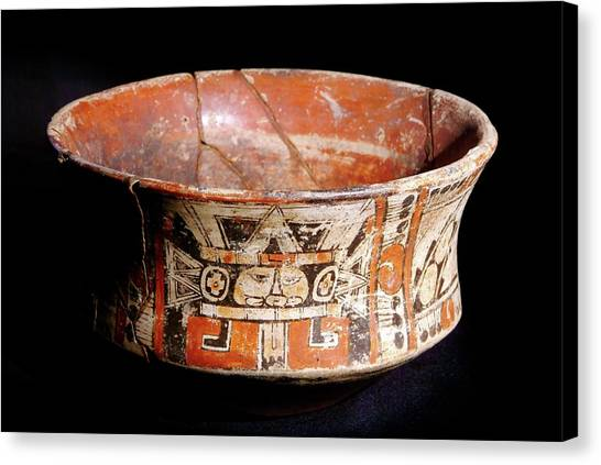 Mayan Vase Canvas Print by Pasquale Sorrentino/science Photo Library